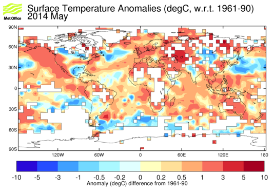 Met Office Hadley Centre observations datasets Anomaly